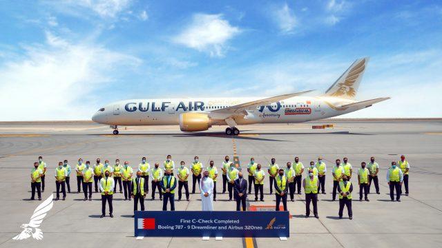 BahrainNOW.net   BahrainNOW.net  طيران الخليج تقوم بأول عملية صيانة من فئة (C) لطائراتها البوينج 9-787 دريملاينر والإيرباص A320 نيو