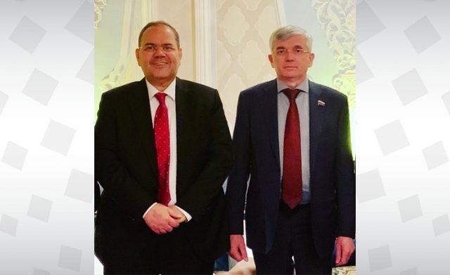 BahrainNOW.net | سفير مملكة البحرين لدى روسيا الإتحادية يجتمع مع عضو مجلس الدوما رئيس لجنة الصحة في البرلمان الروسي